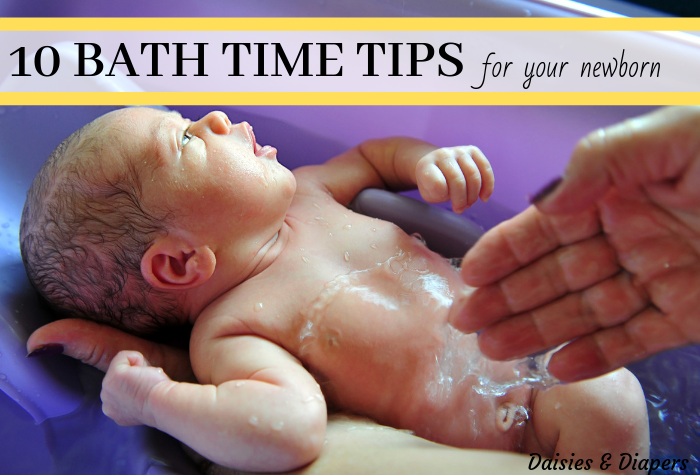 how to give your newborn a bath