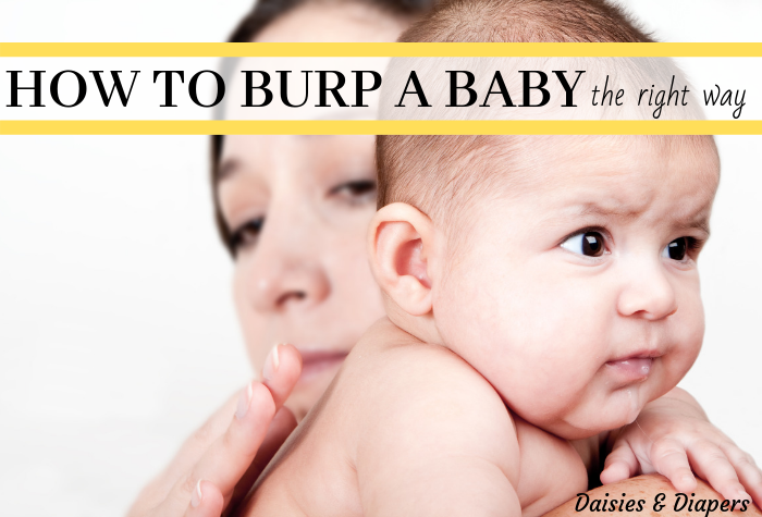 how to burp a baby