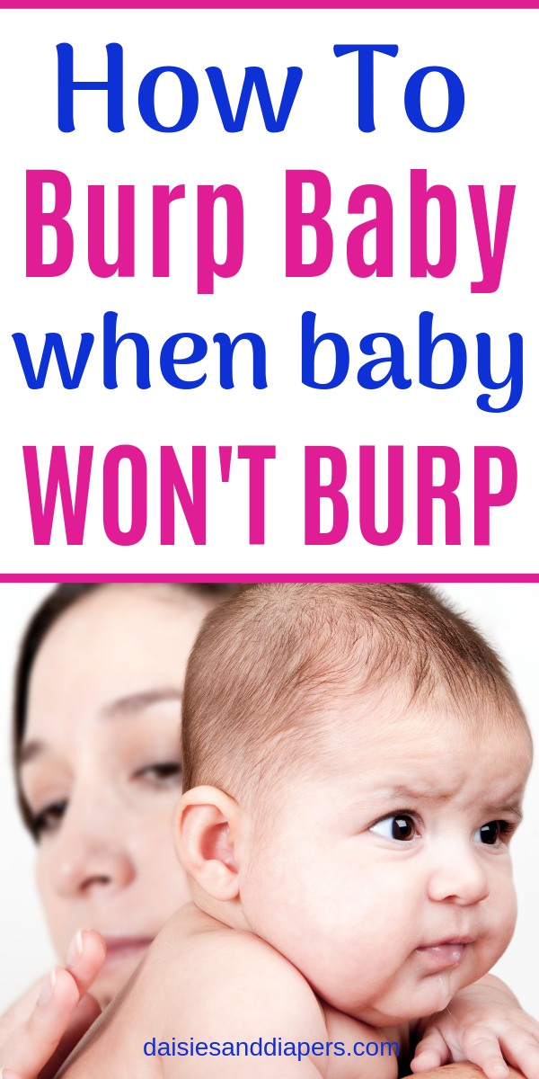 how to burp a difficult baby