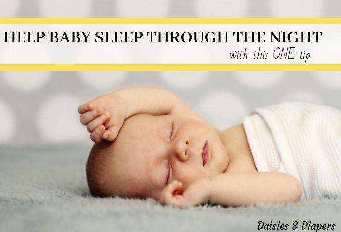 baby sleep through night