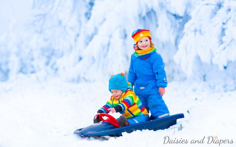 indoor and outdoor snow day activities for kids