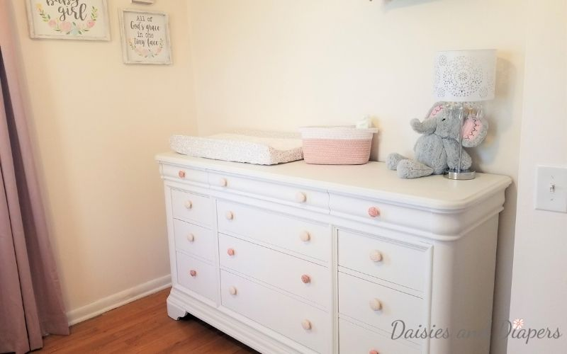 dresser makeover for little girl nursery